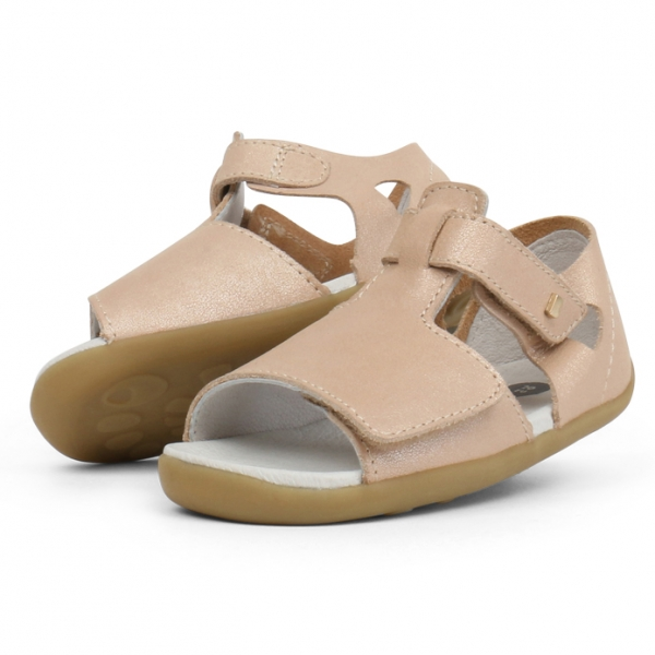 Bobux: Step up Mirror Sandal Champagne Shimmer