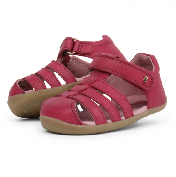 Bobux: Step up Jump Sandal Dark Pink