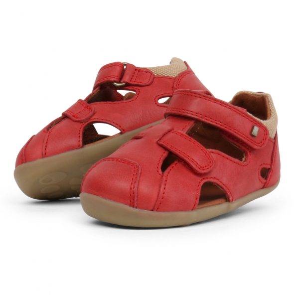 Bobux: Step up Chase Sandal Red