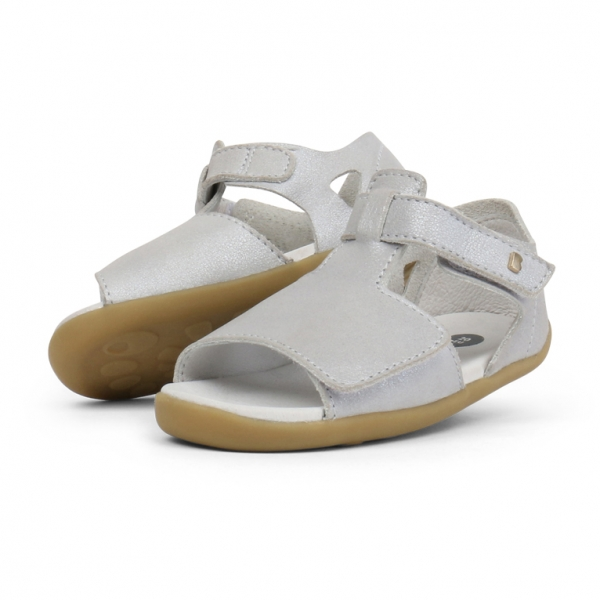 Bobux: Step up Mirror Sandal Silver Shimmer