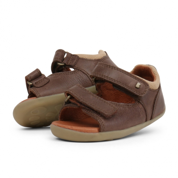 Bobux: Step up Driftwood Sandal Brown
