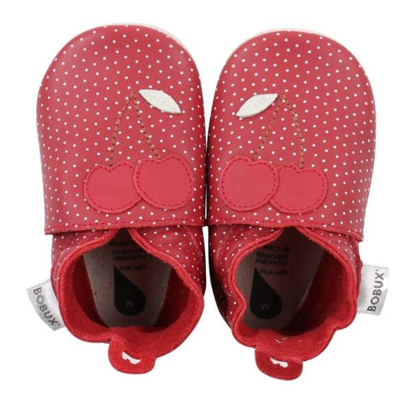 Bobux: Soft sole Cherry Dots Red