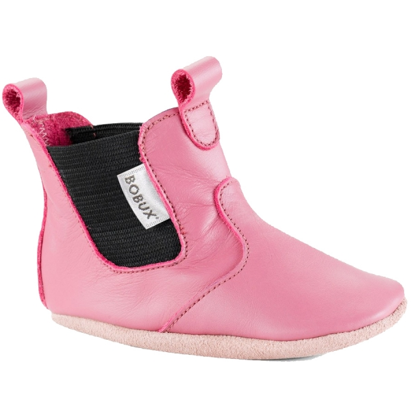 Bobux: Soft sole Chelsea Bright Pink