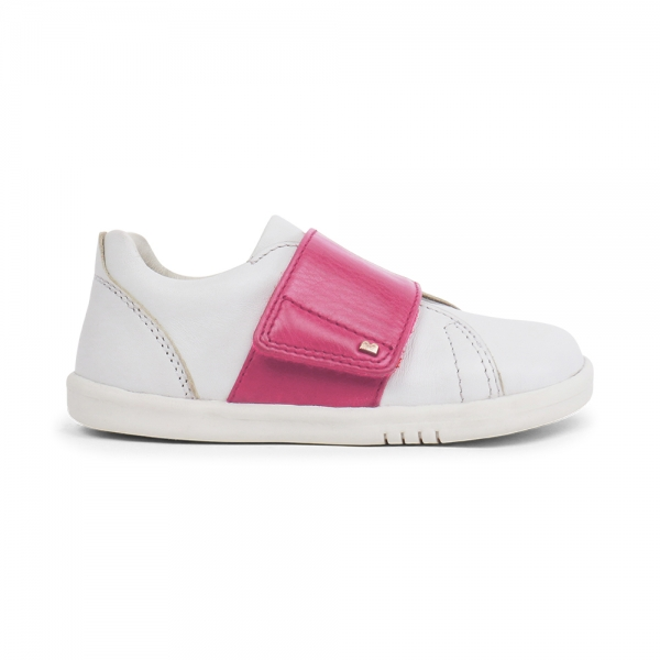 Bobux: iWalk (No: 22-26) Boston Trainer White & Pink