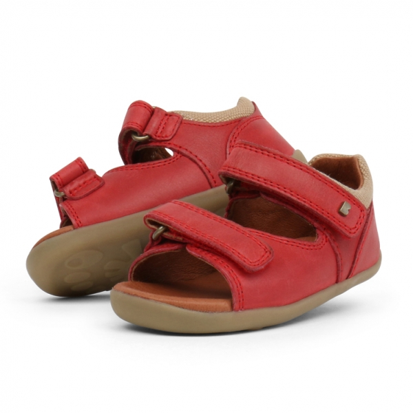 Bobux: Step up Driftwood Sandal Red
